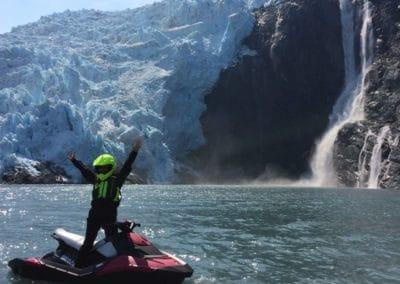 Jet ski in Prince William Sound