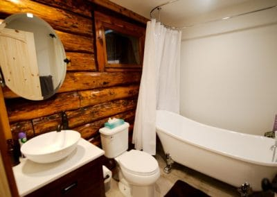 Relax in the claw-foot tub