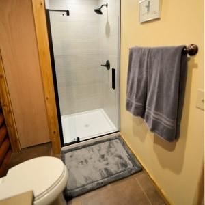 Enjoy the walk-in shower